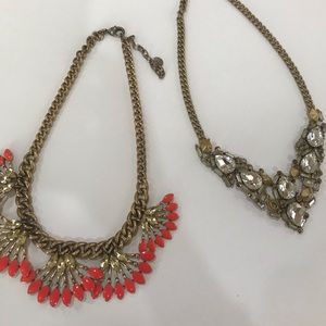 Set of 2 Stella and Dot Statement Necklaces
